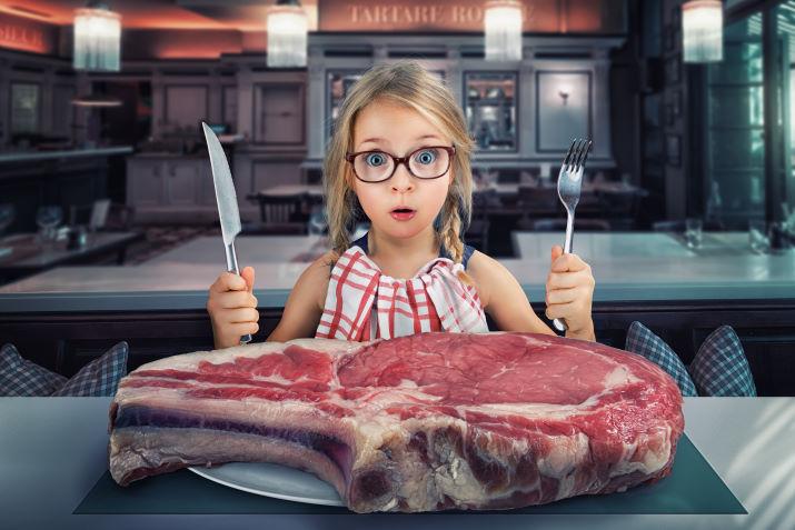 viel Fleisch essen