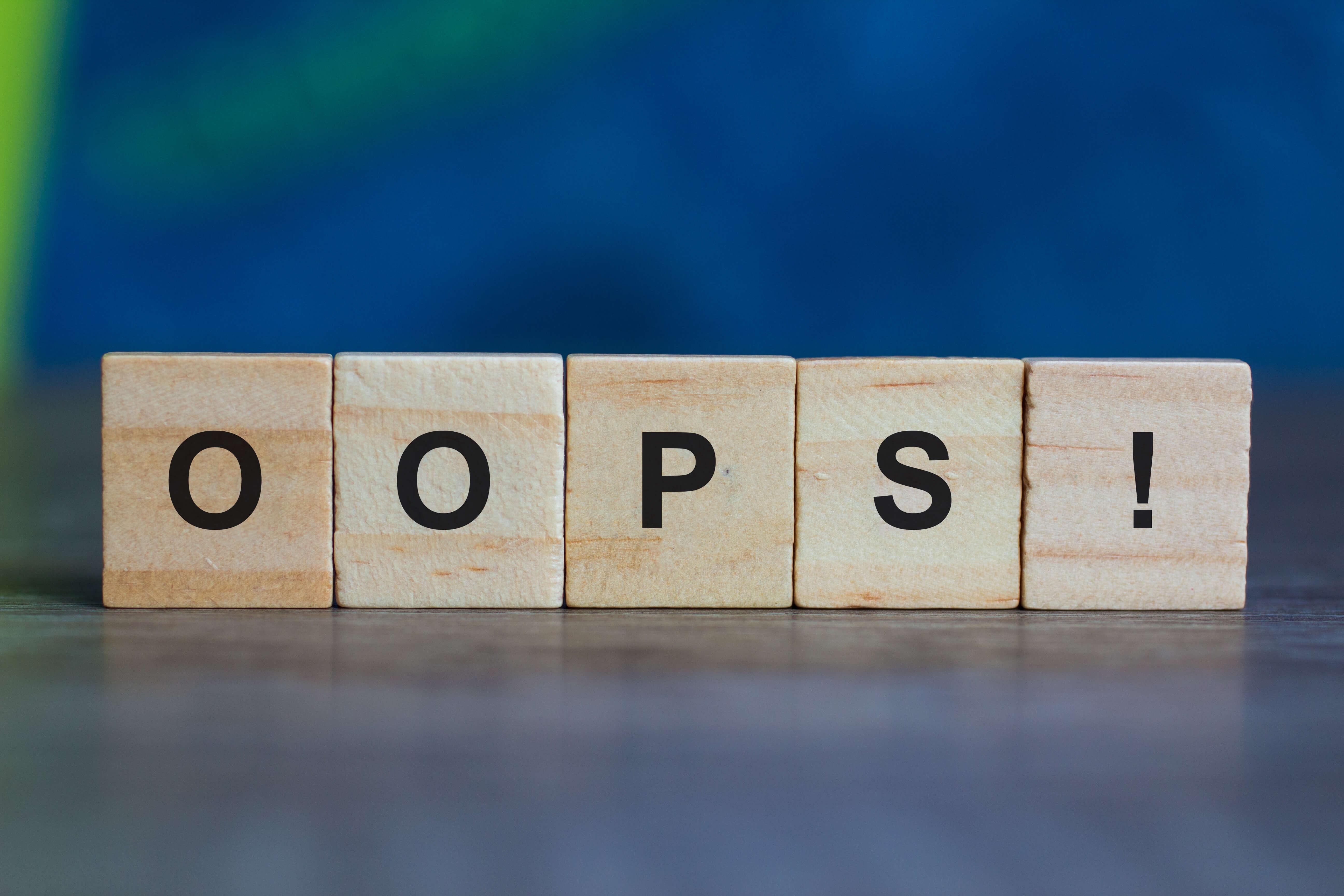 Wie siehts aus, wenn man Sie auf einen Fehler hinweist?