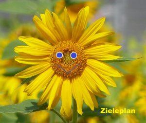 Einzigartige Talente Sonnenblume und Bienen