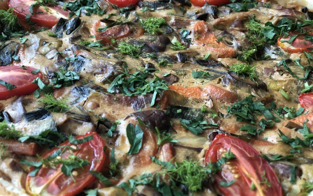 Herzhafte vegane Gemüse Quiche