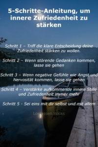 Anleitung für innere Zufriedenheit und Stille