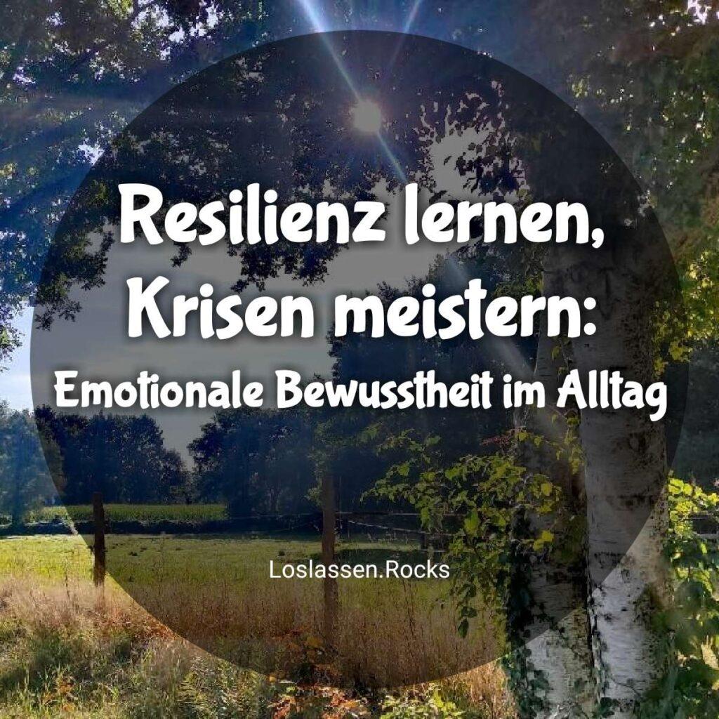 Resilienz lernen, Krisen meistern: Emotionale Bewusstheit im Alltag