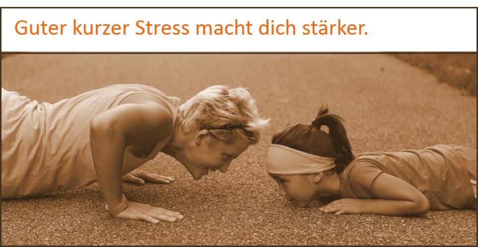 Stress-Symptome können gut sein
