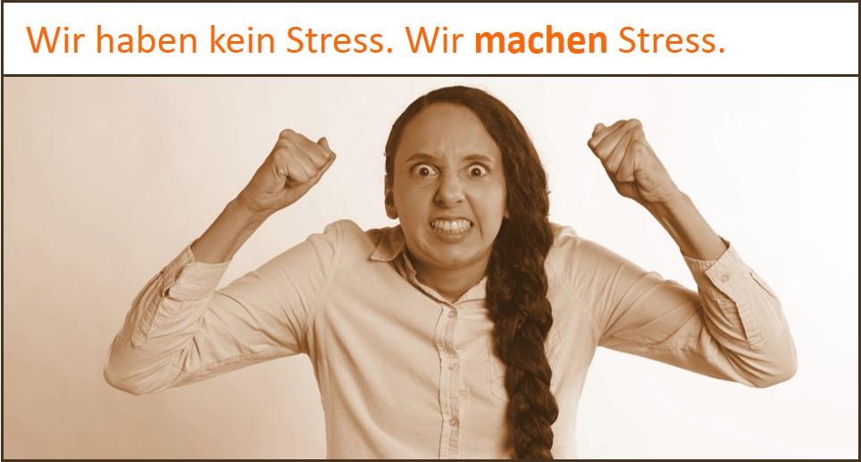 Stress-Symptome sind selbstgemacht