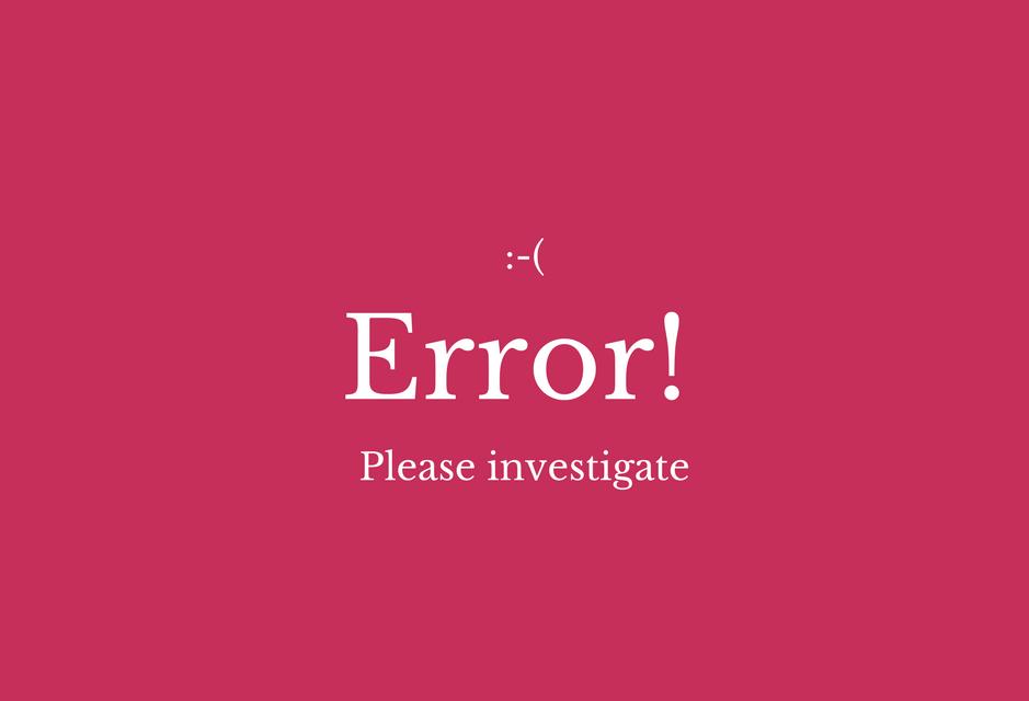 Haben Sie schon mal Fehler reportet?