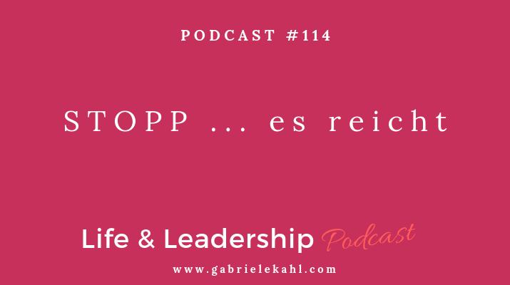STOPP es reicht | Life & Leadership