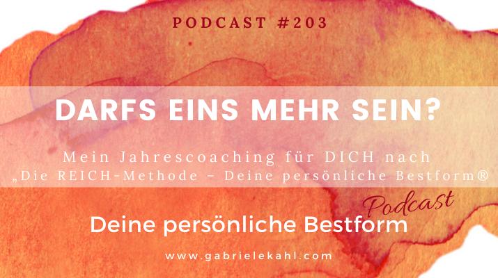 Darfs eins mehr sein? | Deine persönliche Bestform | Gabriele Kahl