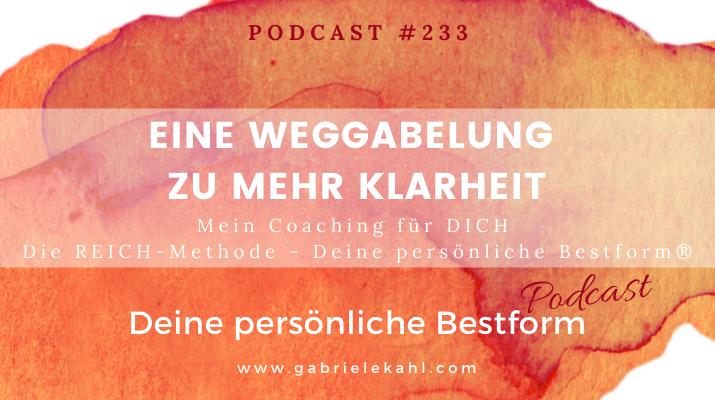#233 Eine Weggabelung zu mehr Klarheit – Die REICH-Methode – Deine persönliche Bestform®