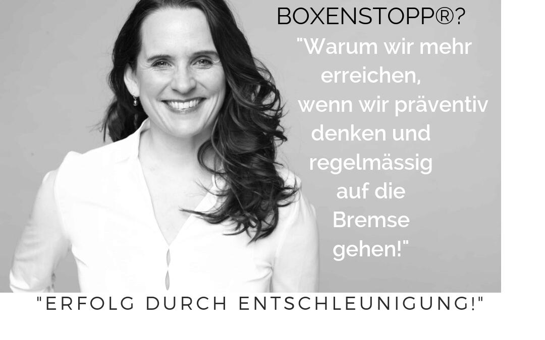 Mentaler Boxenstopp® – Erfolg durch Entschleunigung.