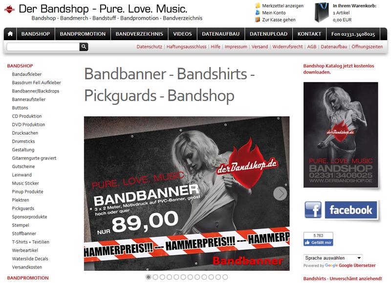Braucht eine Live-Band Merchandising?
