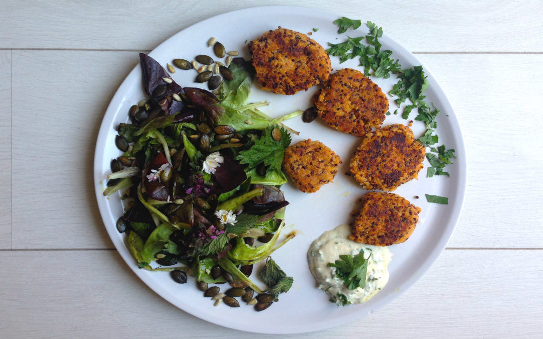 Ayurvedische Quinoa Patties mit Protein Power