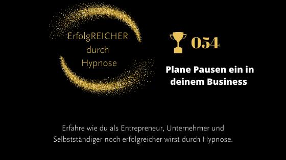 EDH054 Plane Pausen ein in deinem Business