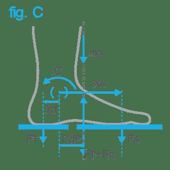 Pedana Stabilometrica Cyber-Sabots - Ripartizione del carico tra la zona metatarsale e il tallone