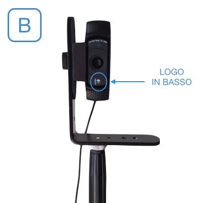 Posizionamento Webcam su cavalletto