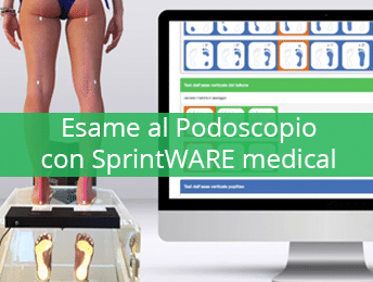 Esame al Podoscopio con SprintWARE Medical