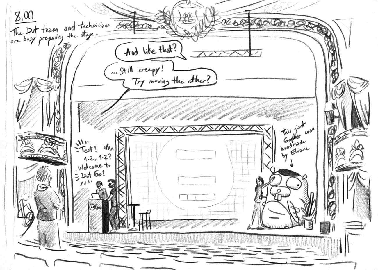 Stage preparation sketch
