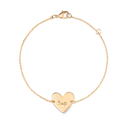 Bracelet Cœur Sur Chaîne