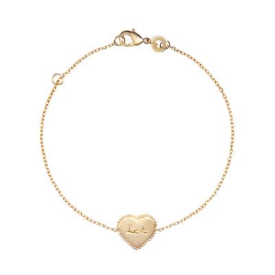 Beaded Heart Chain Armband