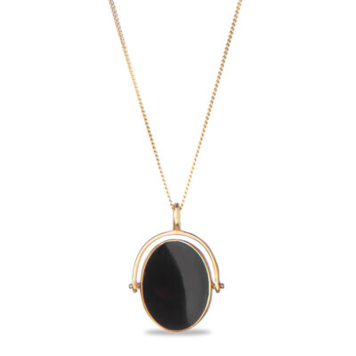 Black Onyx Twist Ketting