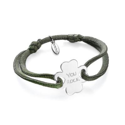 Clover Bracelet Satin Stretch