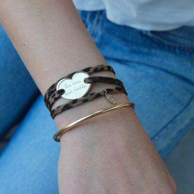 Heart Wrap Armband