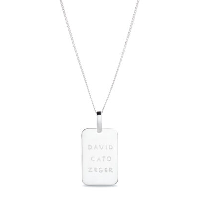 Collier Tag Homme