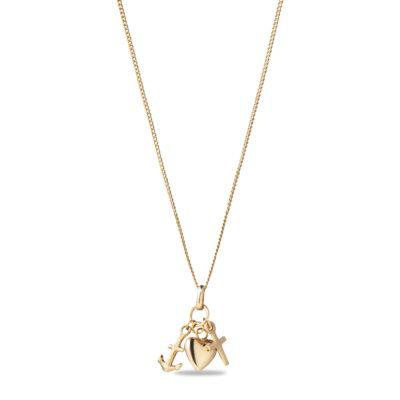 Faith hope love charm Necklace