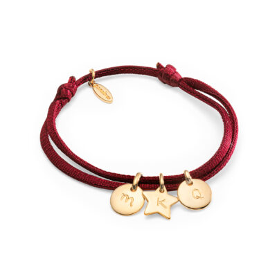 Mini Charm Satin Stretch Bracelet