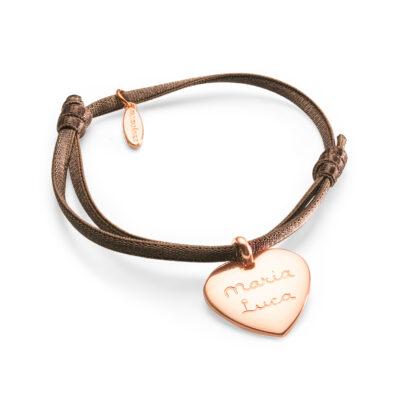 Bracelet Coeur Charm Satin Stretch