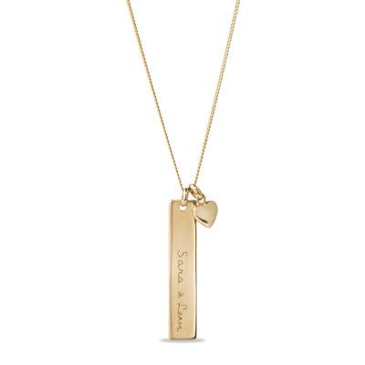 Vertikale Bar Halskette mit Tiny Herz