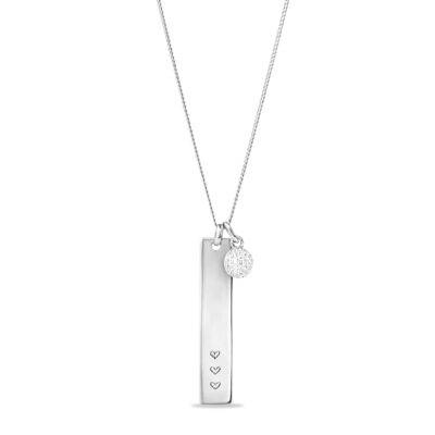 Vertical Bar Ketting with Tiny Sparkle