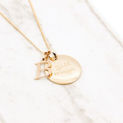 Initial Coin Necklace