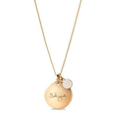 Tiny Sparkle Coin Necklace