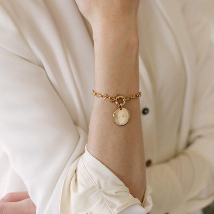 Bold Coin Bracelet