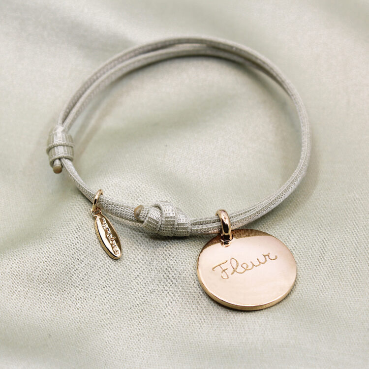 Coin Bracelet Satin Stretch