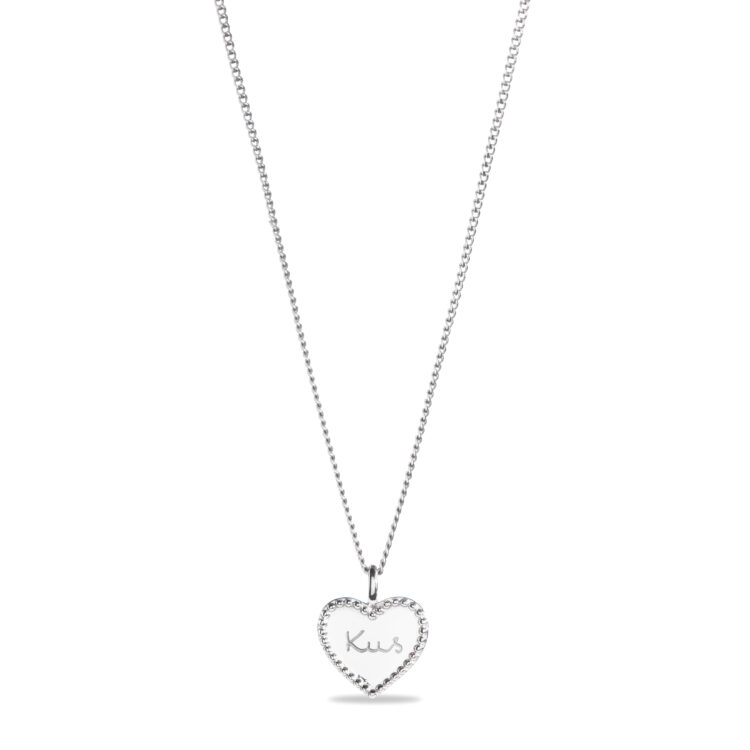Beaded Heart Charm Necklace