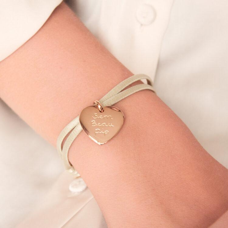 Herz Charm Armband mit Stretch