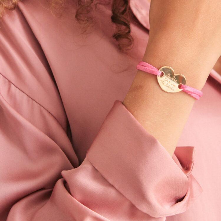 Heart Bracelet Satin Stretch