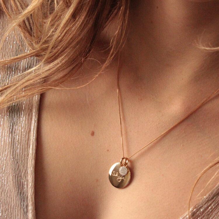 Münze Halskette mit Tiny Sparkle