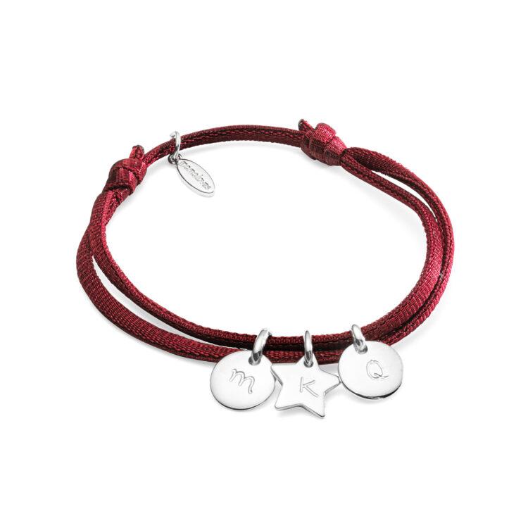 Mini Charm Satin Stretch Bracelet