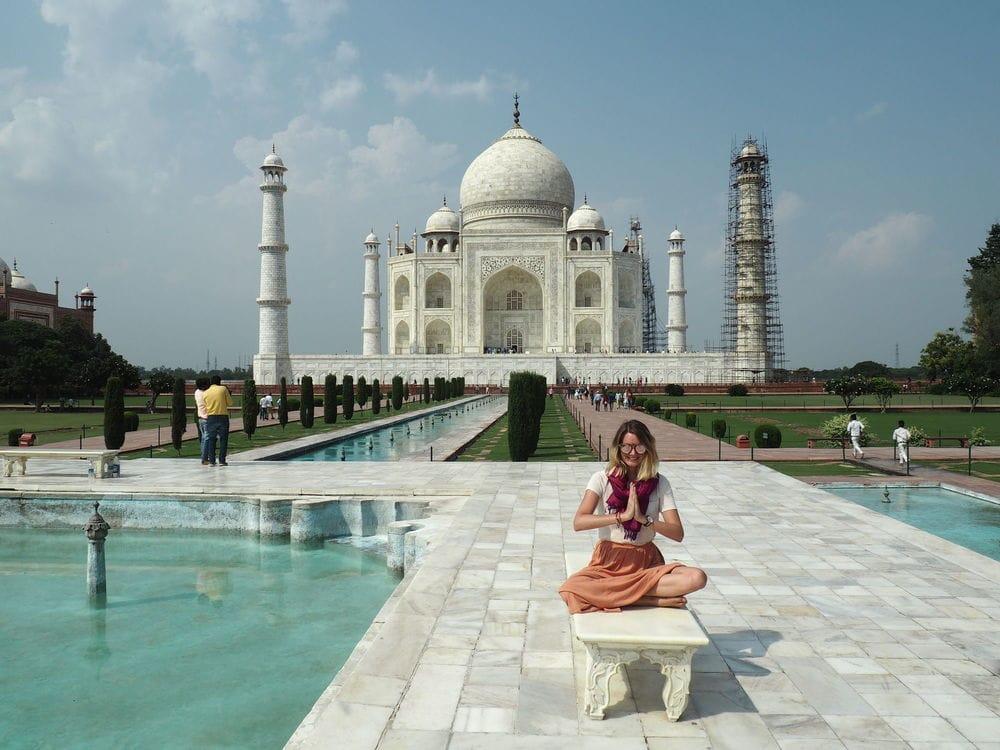 Me infront of the Taj Mahal