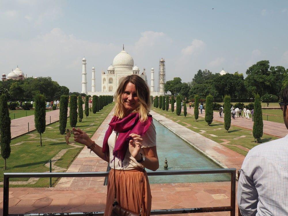 Taj Mahal from the entry