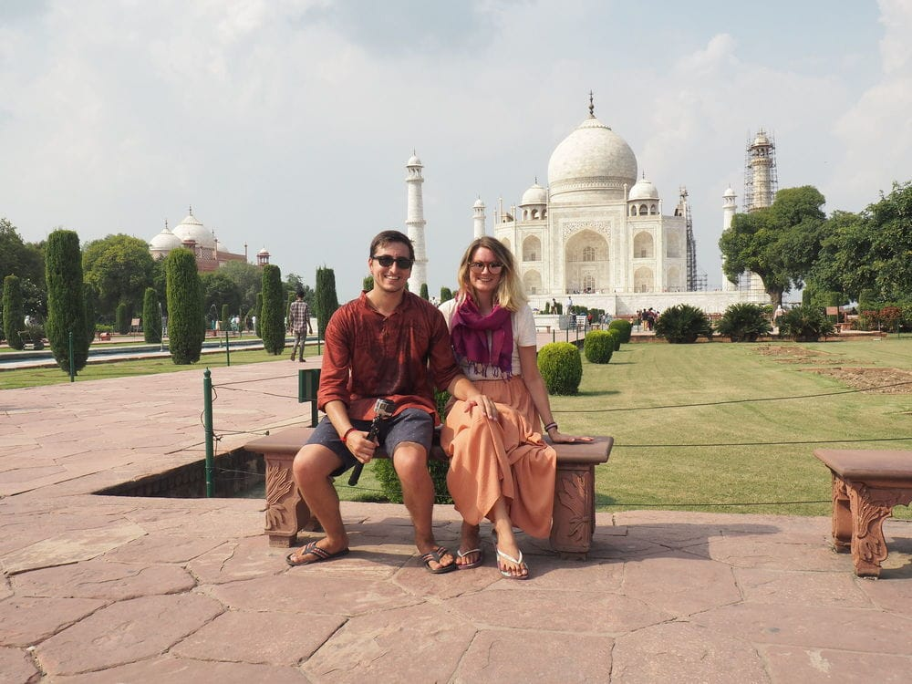 T.S.O.Happiness infront of the Taj Mahal