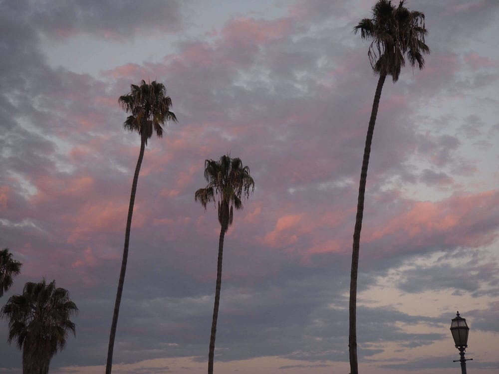 Santa Barbara sunset pink clouds
