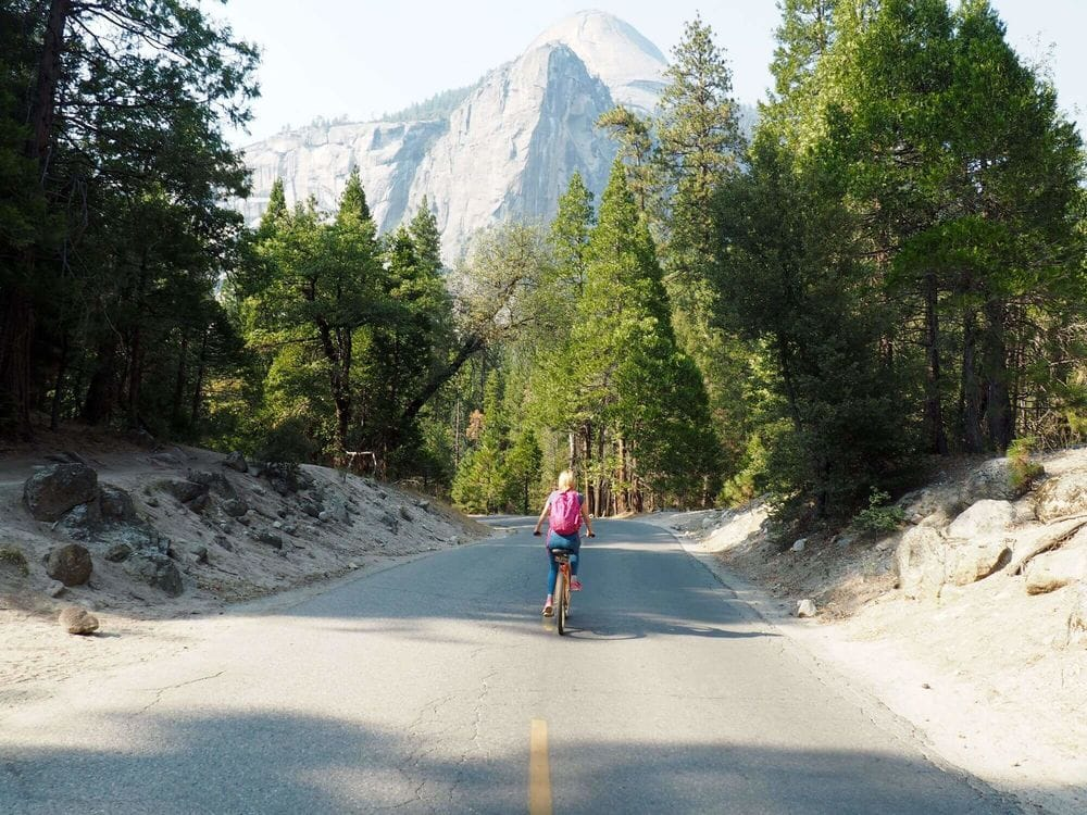 Me biking in Yosemite national park