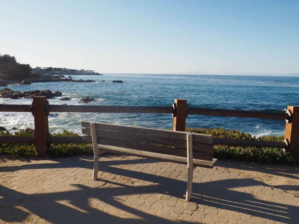 Bench with sea view at Monterey