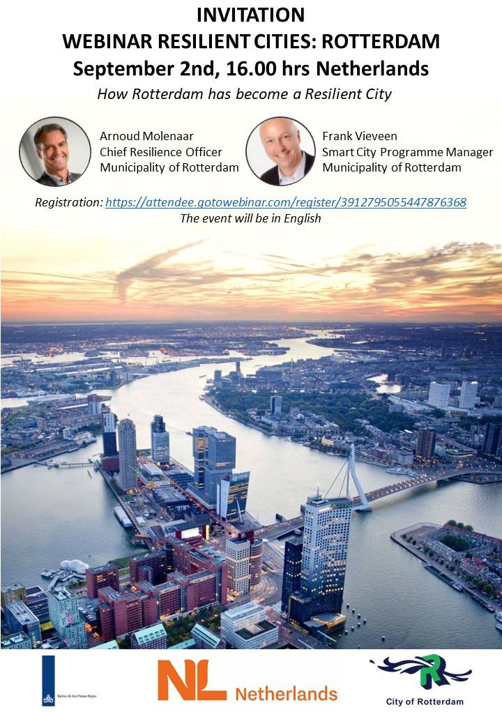 Webinar resilient cities Rotterdam Netherlands
