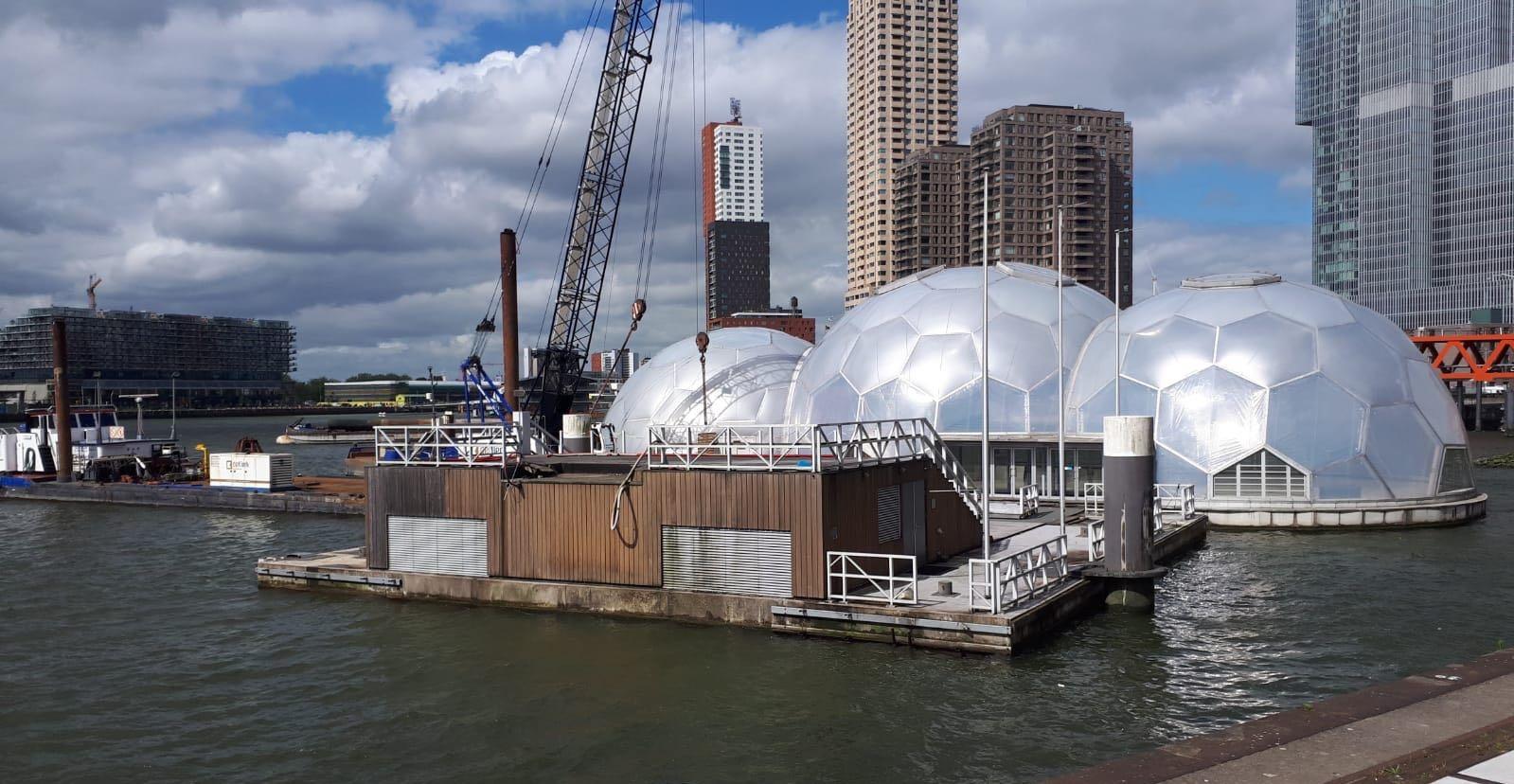Drijvend Paviljoen wordt verplaatst
