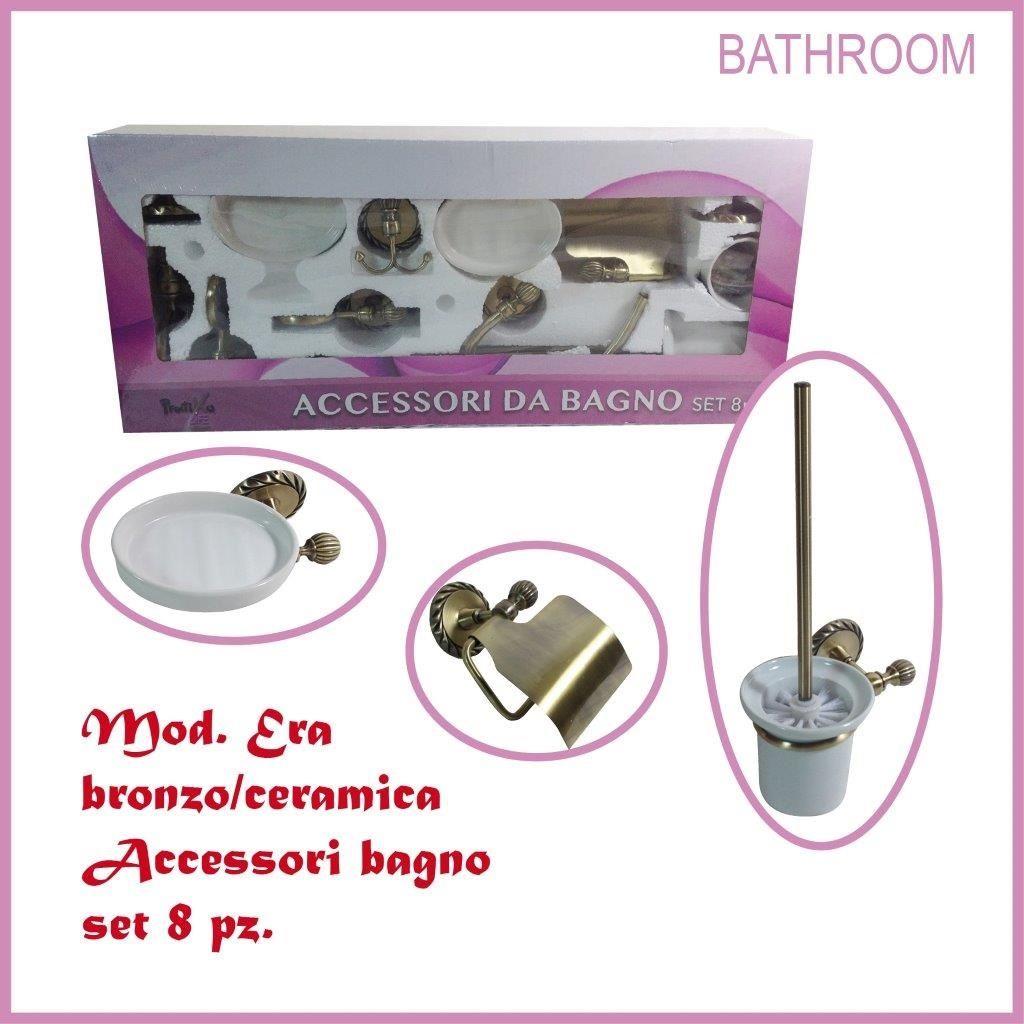 Accessori Bagno Bronzo : Accessori bagno pz era bronzo pratiko supertop