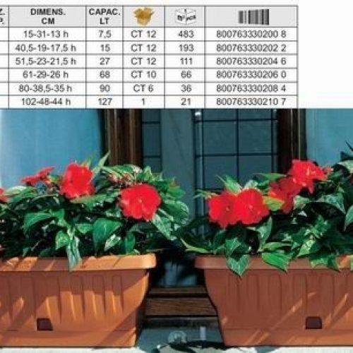 Balconiera regolabile 60cm rondine 30218 bama supertop for Fioriera bama